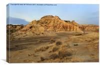 Desert of Bardenas. Bardenas Reales, Navarra, Canvas Print