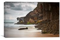 playa de Andrin Llanes Asturias, Canvas Print