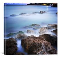Beach of Vilanova i la Geltru, Canvas Print