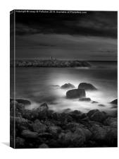 Ethereal long exposure image of the beach, Canvas Print