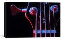 Electric bass guitar, Canvas Print