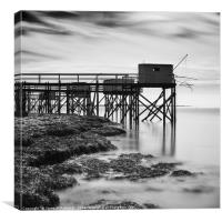 Port des barques, fishing cottages, France, Canvas Print