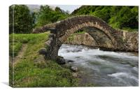 romanesque bridge, Canvas Print