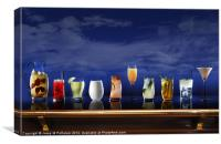 Cocktail selection, Canvas Print