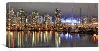 BC Place and Harbour, Canvas Print