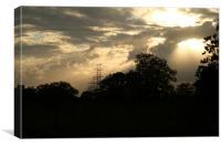 Through the Clouds, Canvas Print