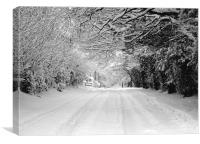 BOX HILL ROAD (SURREY), Canvas Print