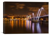 Hungerford Bridge London, Canvas Print