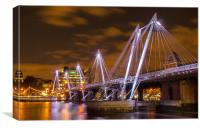 Hungerford Bridge London, Canvas Print