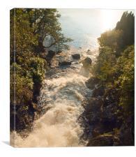 Arklett Falls Scotland, Canvas Print