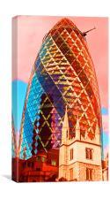 The Gherkin London, Canvas Print