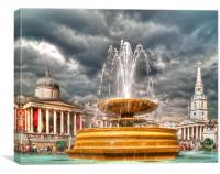 TRAFALGAR SQUARE FOUNTAIN, Canvas Print