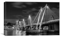 The Hungerford Bridge London, Canvas Print