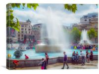 Trafalgar Square London, Canvas Print