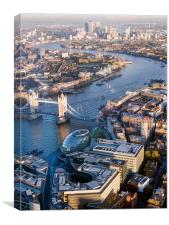 View From the Shard London, Canvas Print