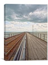 Southend Pier And Rail, Canvas Print