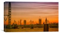 London Cityscape Dusk, Canvas Print