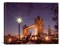 Tower Bridge And Shard, Canvas Print