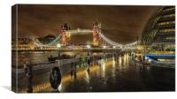 Tower Bridge In Art, Canvas Print