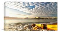 Worthing Pier And Beach, Canvas Print