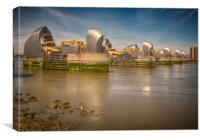 Thames Barrier And Seagull, Canvas Print