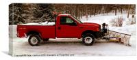 North Country Work Horse, Canvas Print