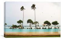 Sea view at Fortress Hotel,Srilanka., Canvas Print