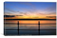 Sunset on The Wirral, Canvas Print