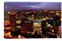 Leeds Skyline, Canvas Print