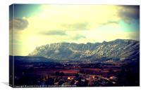 Sainte Victoire Mountain, Canvas Print