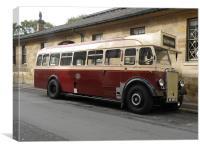 Leyland Single-Decker Bus, Canvas Print