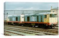 Class 20 Diesel Locomotives, Canvas Print