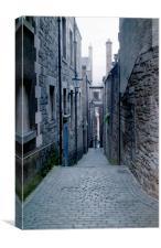 Narrow Lane Edinburgh, Canvas Print