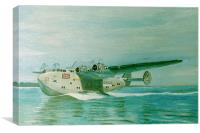 Flying Boat 1930's, Canvas Print