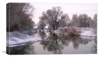 Winter on the Ivel 2, Canvas Print