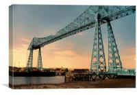 Middlesborough Transporter Bridge, Canvas Print