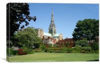 Chichester Cathedrel, Canvas Print