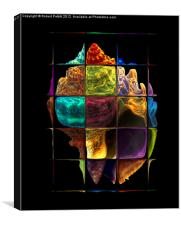 Colored Florida Whelk, Canvas Print