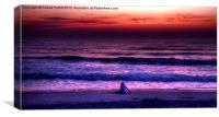Own personal sunset, Canvas Print