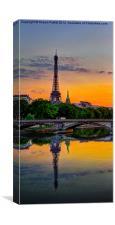 Paris spring sunset, Canvas Print