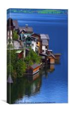 Houses of Lake Hallstatt, Canvas Print