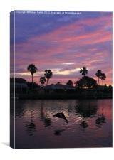 Sunset in Satellite Beach, Canvas Print