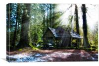 Shelter in the Woods, Canvas Print