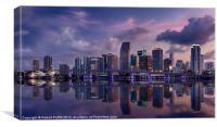 Miami Skyline II, Canvas Print