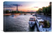 Paris at Dusk, Canvas Print