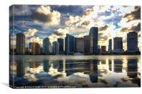 Miami at Dusk, Canvas Print