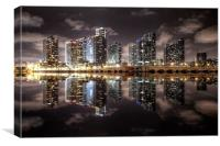Miami Skyline, Canvas Print