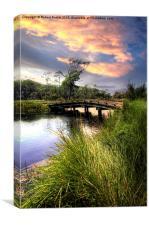 Bridge to Sunset, Canvas Print