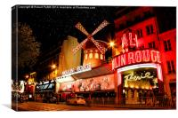 The Moulin Rouge, Canvas Print
