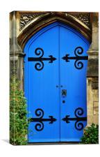 Blue door, Canvas Print